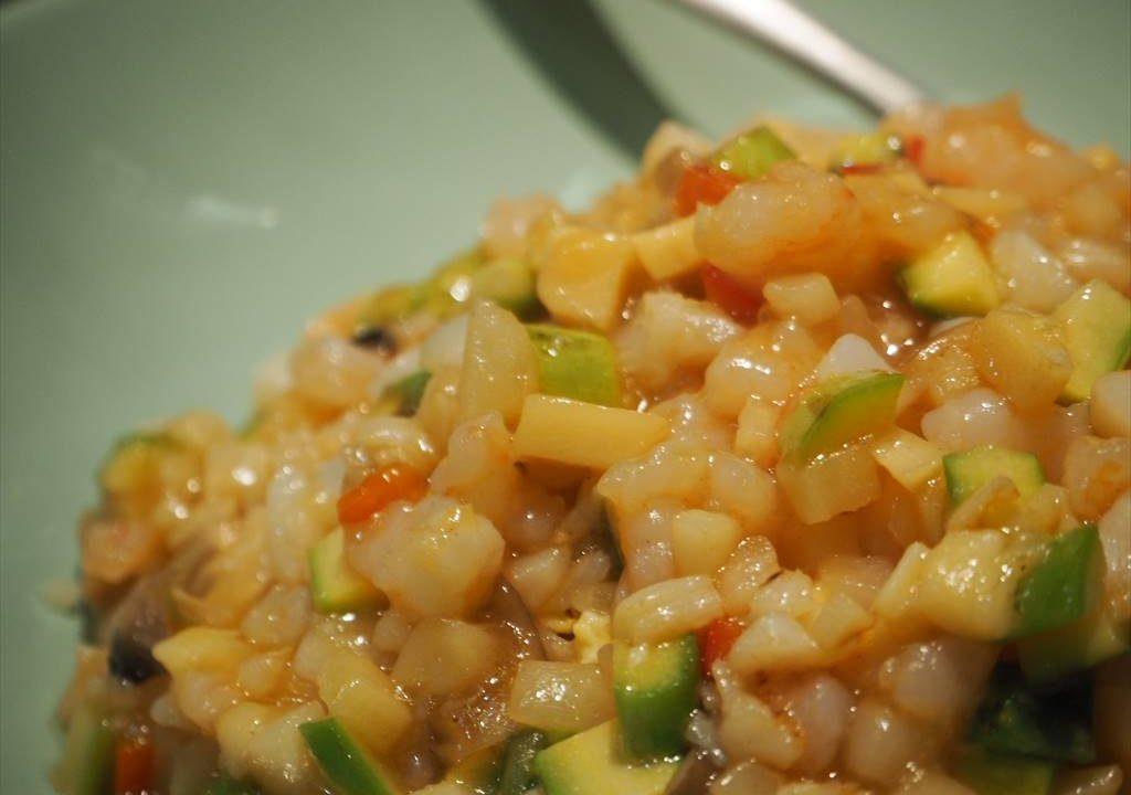 上海豫園海鮮あんかけ炒飯